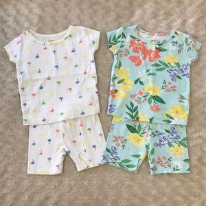 Carter's Pajama Bundle Short Sleeve Floral Blue